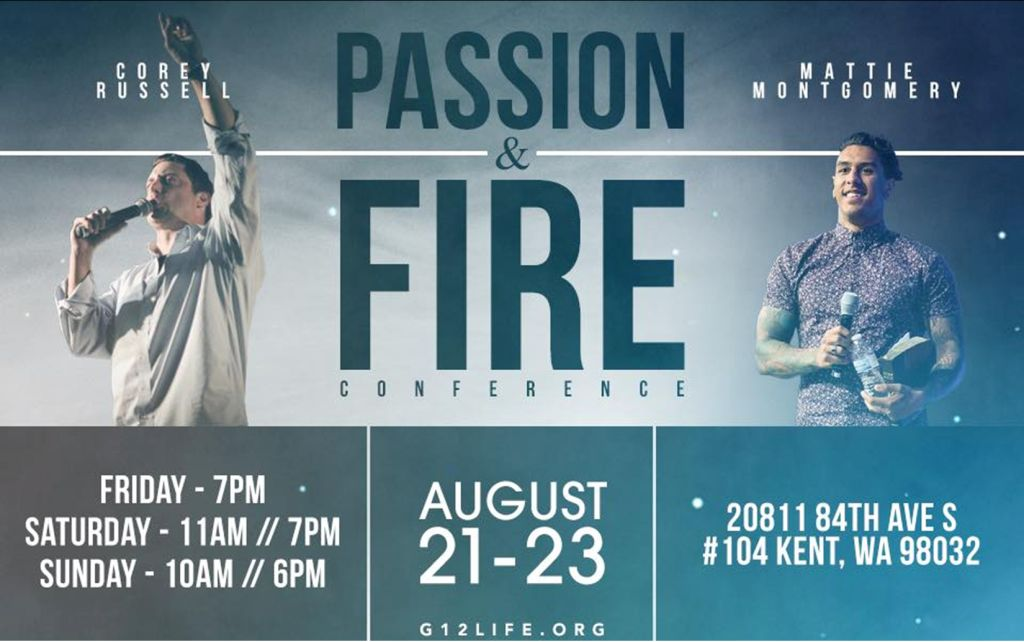 Конференция / Passion & Fire Conference with Corey Russel and Mattie Montgomery (August 21-23, 2015)