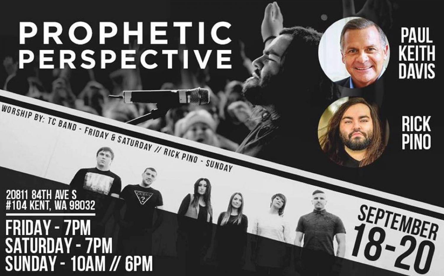 Prophetic Perspective Conference with Paul Kith Davis, Rick Pino and TC-Band (September 18-20 2015)