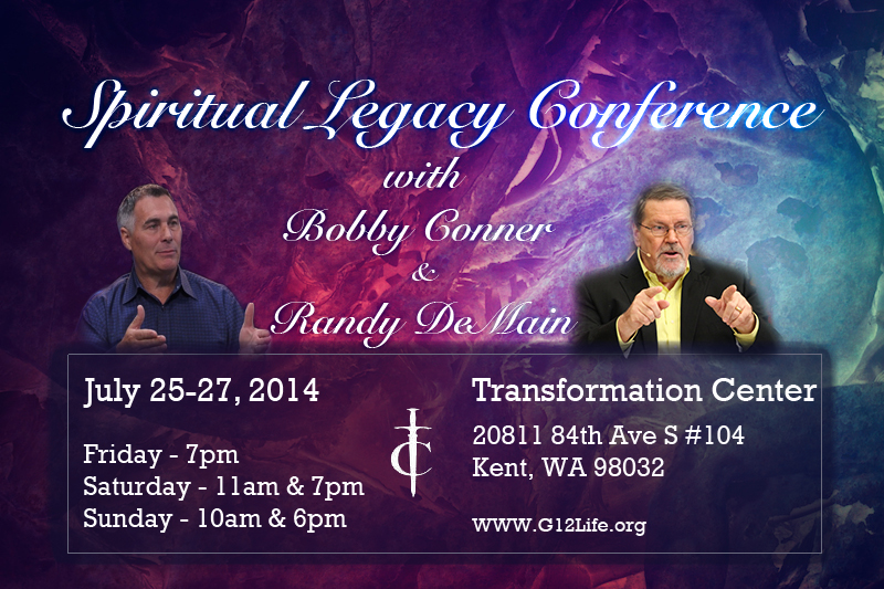 Конференция /Spiritual Legacy Conference with Bobby Conner and Randy DeMain (July 25-27, 2014)